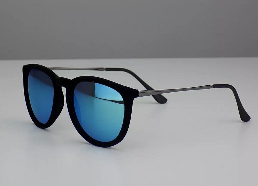 3d6ee1406927f Óculos Quadrado Aveludado Chique Lente Espelhada Lindo Moda - R  39 ...