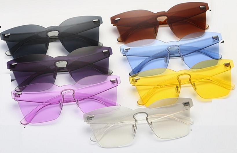 óculos quadrado de sol colorido transparente ponte em aço. Carregando zoom. 51872a0cdc