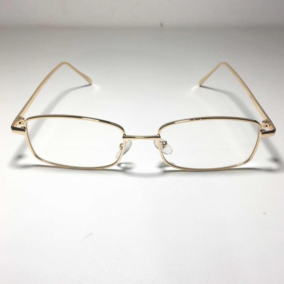 1c31ce027ca8b óculos quadrado fino retro vintage dourado armação. Carregando zoom.