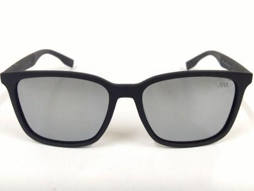 9609a3f87e92b Óculos Quadrado Preto Fosco Lentes Polarizadas Espelhada 014 - R ...