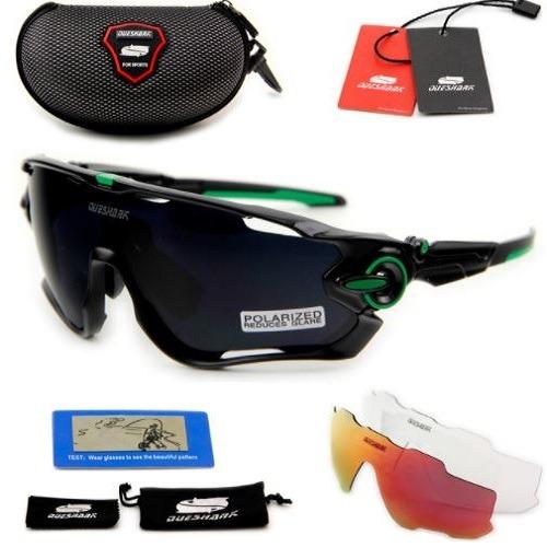 Óculos Queshark Ciclismo Preto 3 Lentes 1 Polarizada Uv400 - R  138 ... 63c1eb85a5