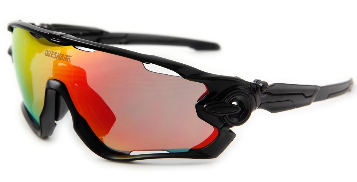 óculos queshark ciclismo preto 3 lentes 1 polarizada uv400. Carregando zoom. 9fc9b158ce