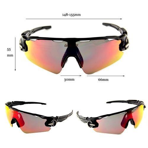 Óculos Queshark Ciclismo Preto 3 Lentes 1 Polarizada Uv400 - R  139 ... bde0e1c8f2