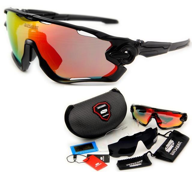 Óculos Queshark Ciclismo Preto 3 Lentes 1 Polarizada Uv400 - R  139,90 em  Mercado Livre e0c02ed2d9