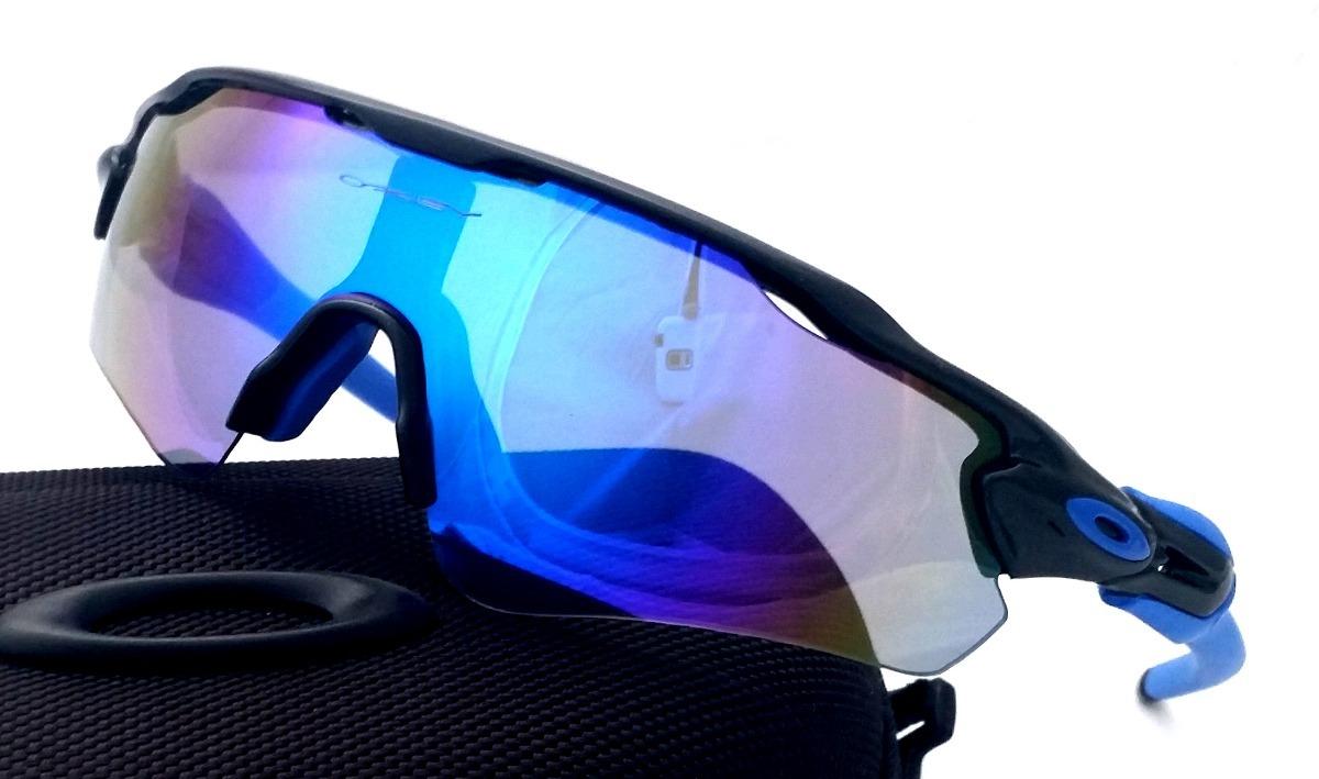 Óculos Radar Ev Preto E Azul Com 5 Lentes - Ciclismo Corrida - R ... 2d3e26d4e9