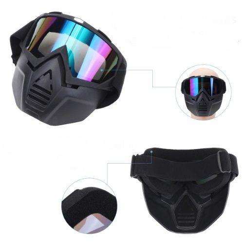 Óculos Rainbow Com Mascara Capacete Aberto Custom Moto - R  149,00 ... 043ced56a2
