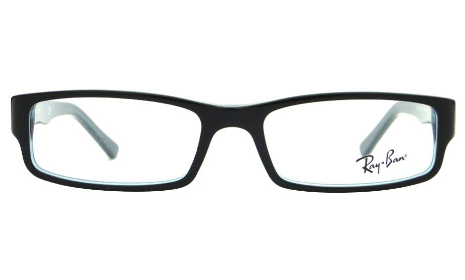 3b75ea8642f00 Óculos De Grau Ray Ban Rb 5246 Preto azul Feminino Original - R  299 ...