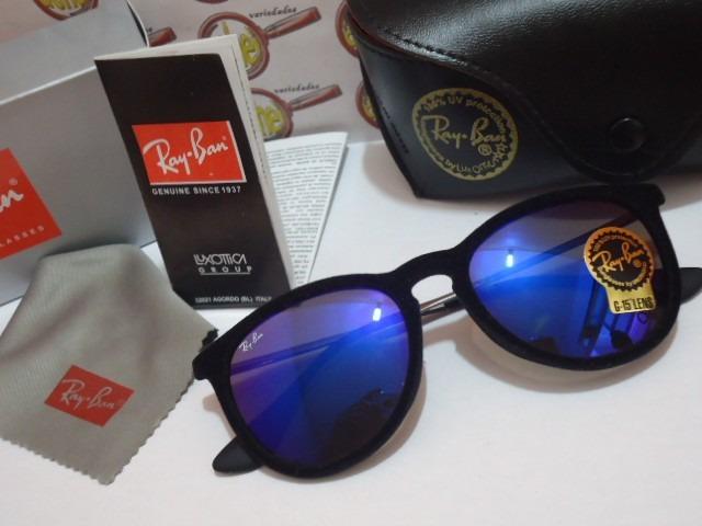 oculos de sol rb4171 erika preto velvet veludo ray ban azul · oculos ray ban a15e206e07