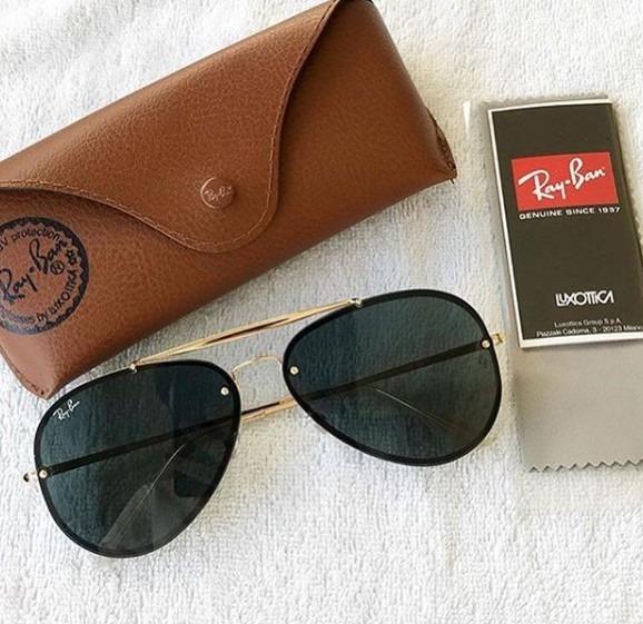 Óculos Ray Ban Aviador Blaze Original 50% Off - R  299,00 em Mercado ... 100df2085a