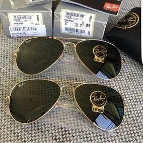 84cd516b76010 Oculos Ray Ban Top Aviador Original Tamanho G Grande Promoçã - R  309
