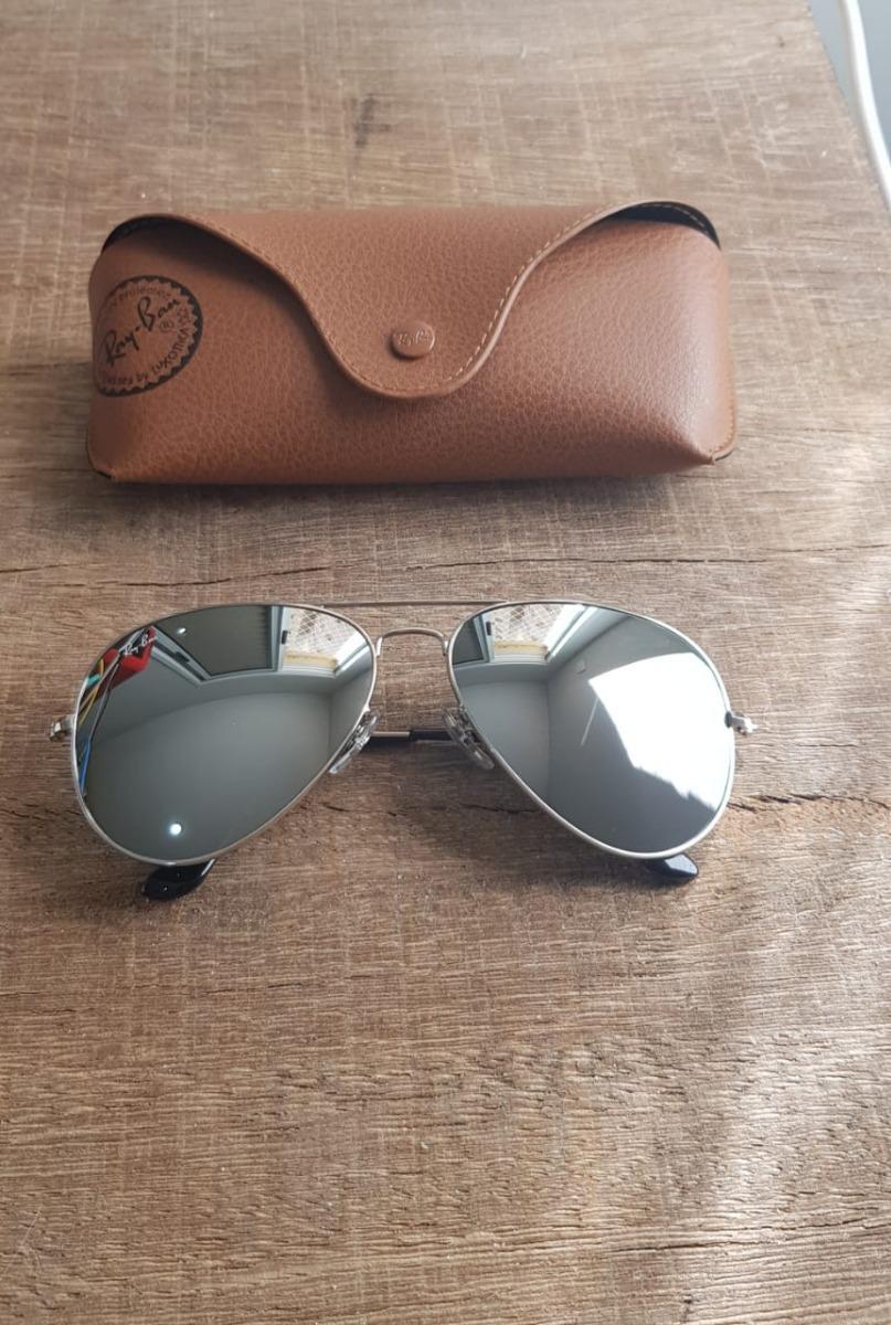 Óculos Ray Ban Aviador Rb3025 Prata Espelhado Black Friday - R  350 ... 0bbe9a7ded