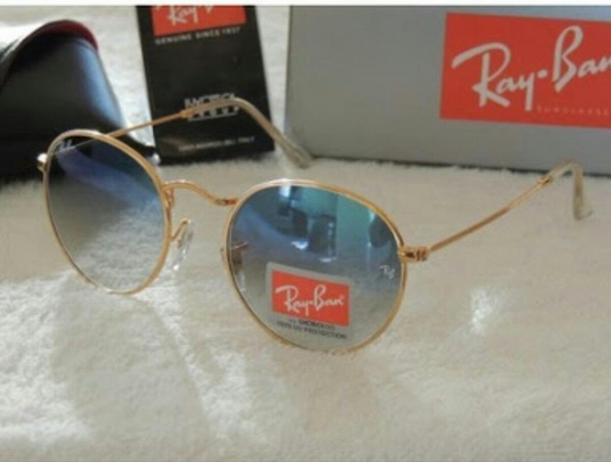 Óculos Ray Ban Redondo Rb3447 Azul Degrade - R  199,99 em Mercado Livre 8d6c43af17