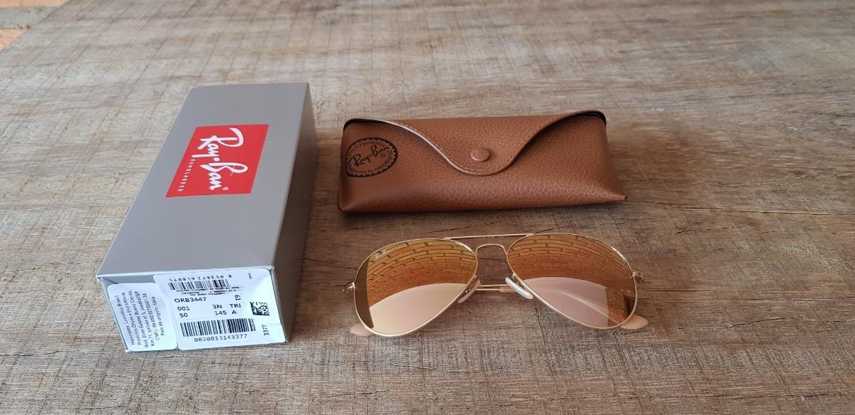 Óculos Ray Ban Aviador Rb3025 Rose Unissex Black Friday - R  350,00 ... 07044759e6