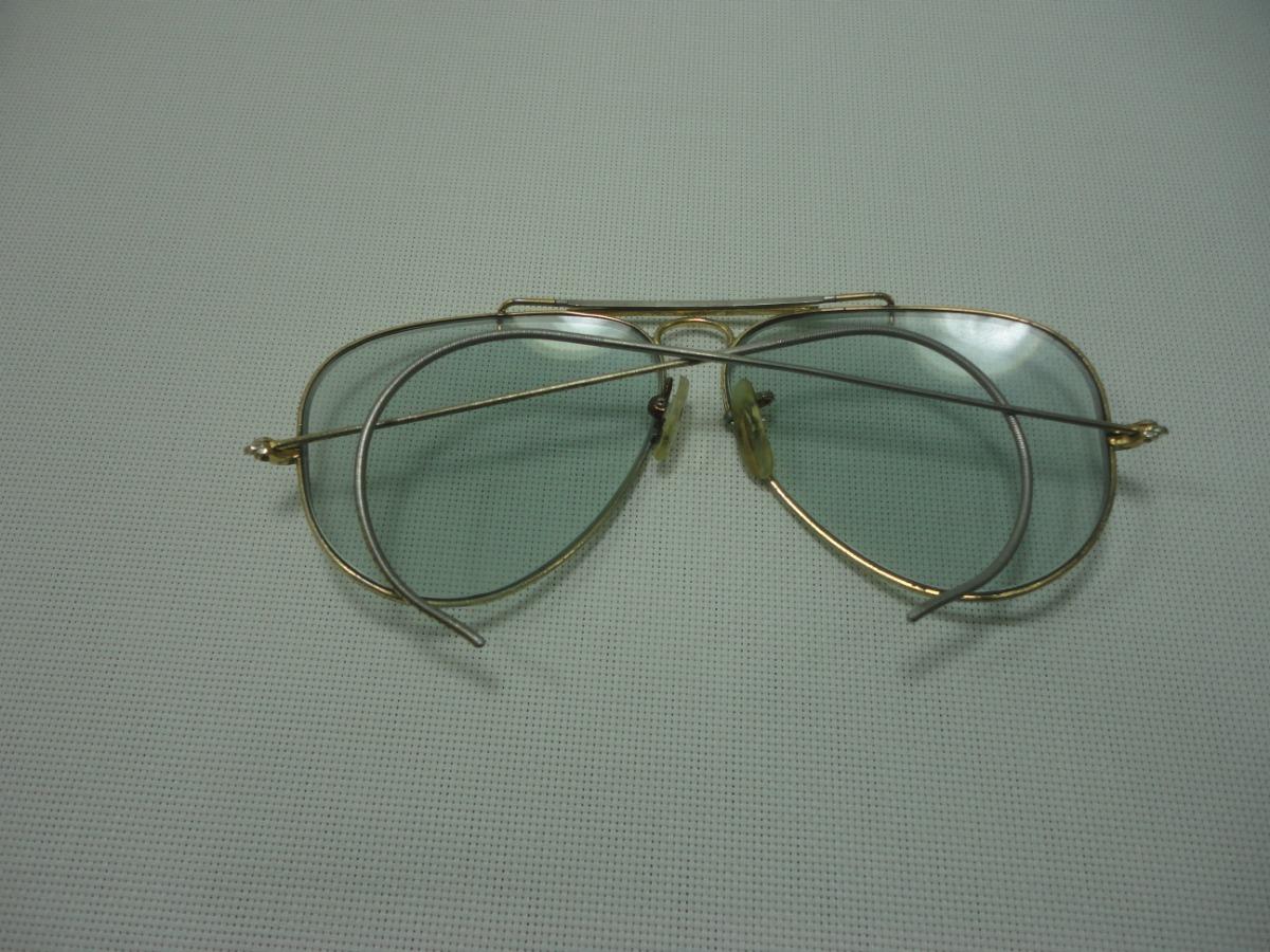 575b94d719c83 Óculos Ray Ban Antigo Aviador Caçador Lente Bausch   Lomb - R  180,00 em  Mercado Livre