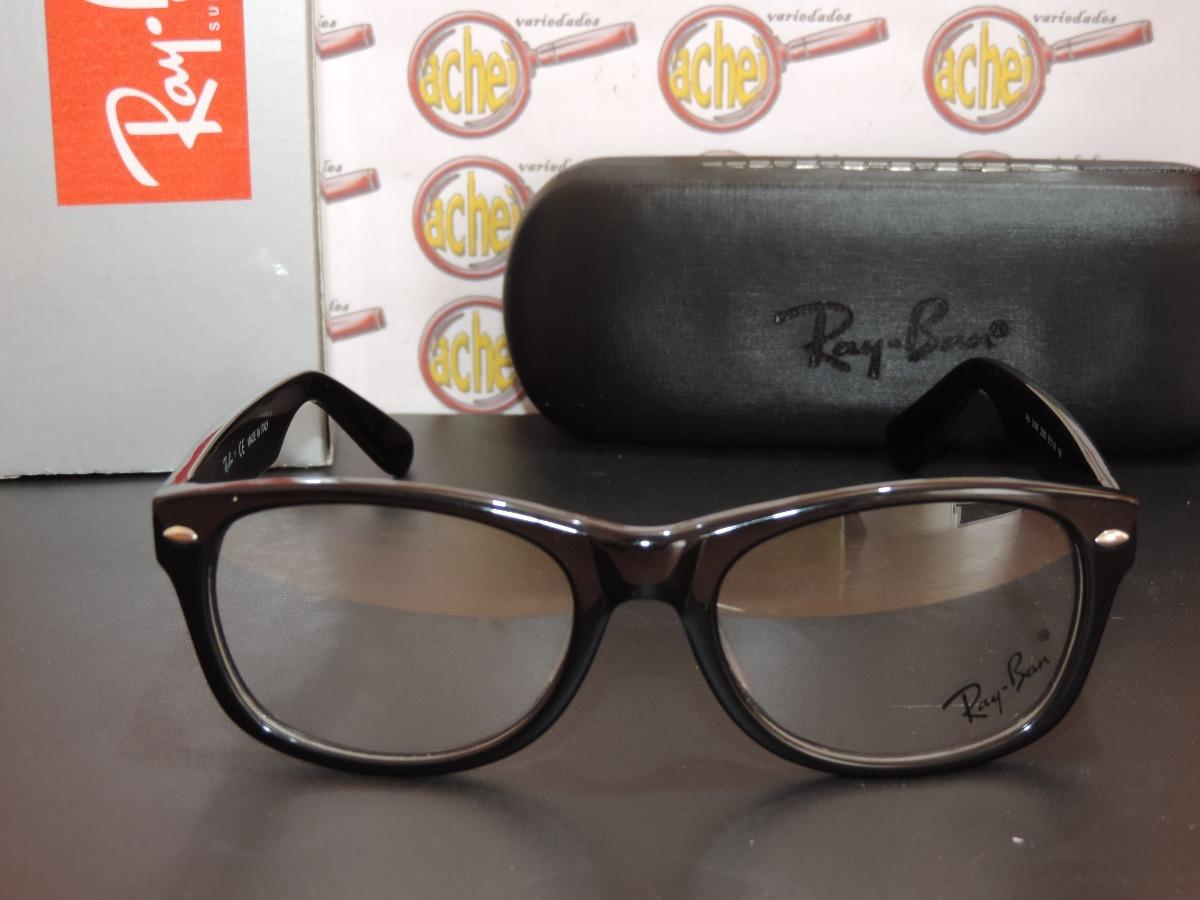 a7474b56a0f44 Armação Oculos Grau Rb5184 Wayfarer Preto Acetato Ray-ban - R  97