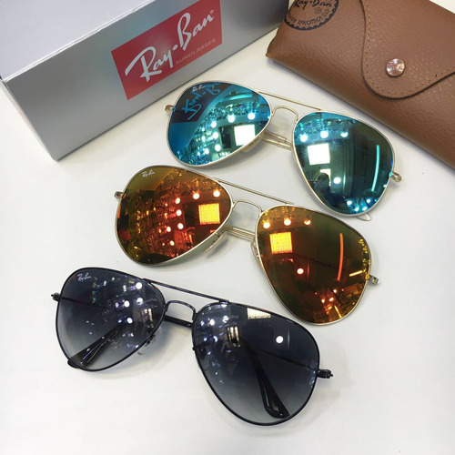 óculos ray ban aviador 003 varias cores espelhado 12x s / j