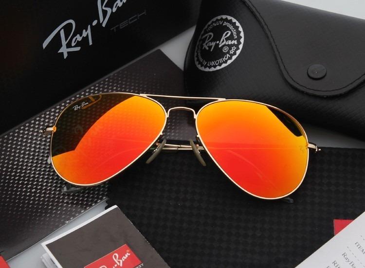 Óculos Ray-ban Aviador 3025 Laranja Original 50% Off - R  249,00 em ... 53568805ca