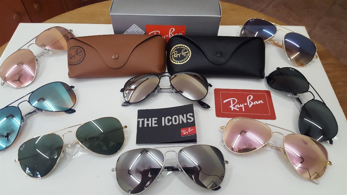 Óculos Ray Ban Aviador 3025 3026 Original Na Caixa - R  369,90 em ... acf8751eb9