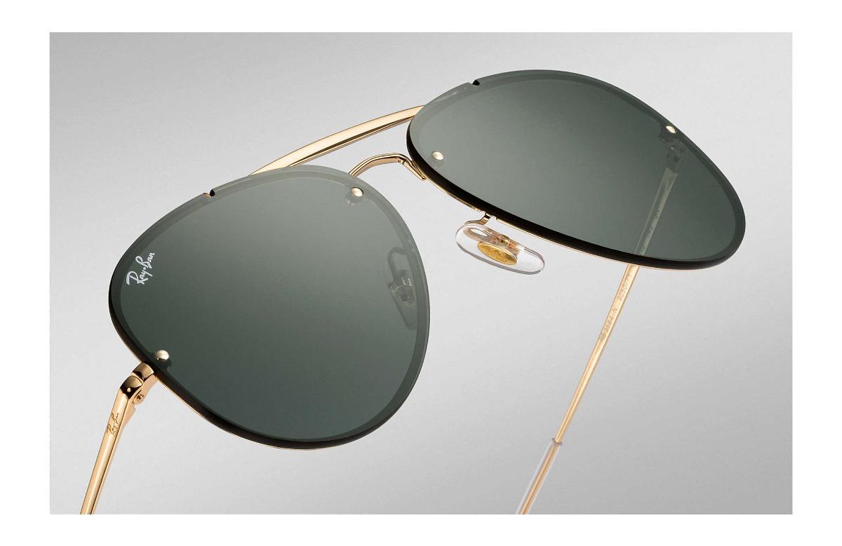 291b44eea2c8a óculos ray ban aviador blaze rb 3584 9050 71 61 - original. Carregando zoom.
