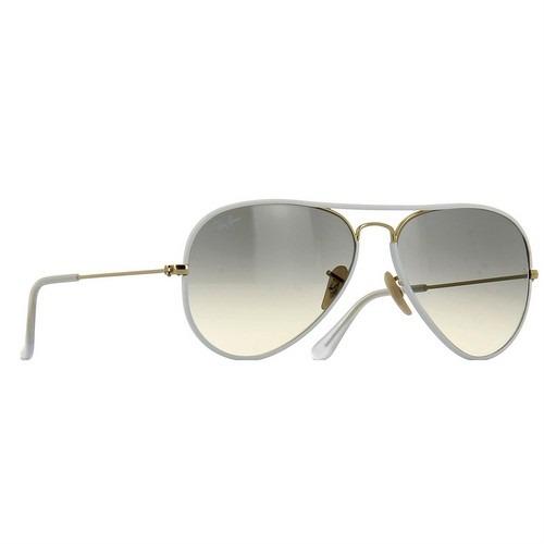 5d593b2de óculos ray ban aviador branco esverdiado 100% original frete. 6 Fotos