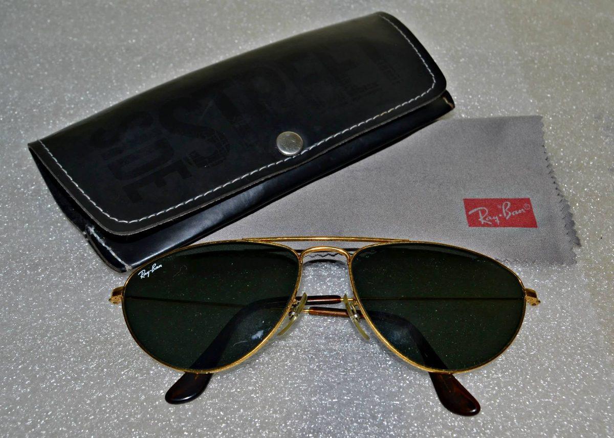 eecfa0b72dbd5 óculos ray ban aviador caçador vintage antigo lente verde bl. Carregando  zoom.