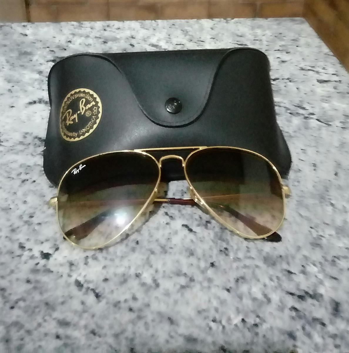 Óculos Ray-ban Aviador Feminino Original - R  320,00 em Mercado Livre a08bdb3540