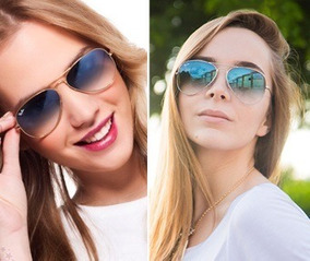 c12d028a4 Ray Ban Azul Degrade - Óculos De Sol Aviator, Usado no Mercado Livre ...