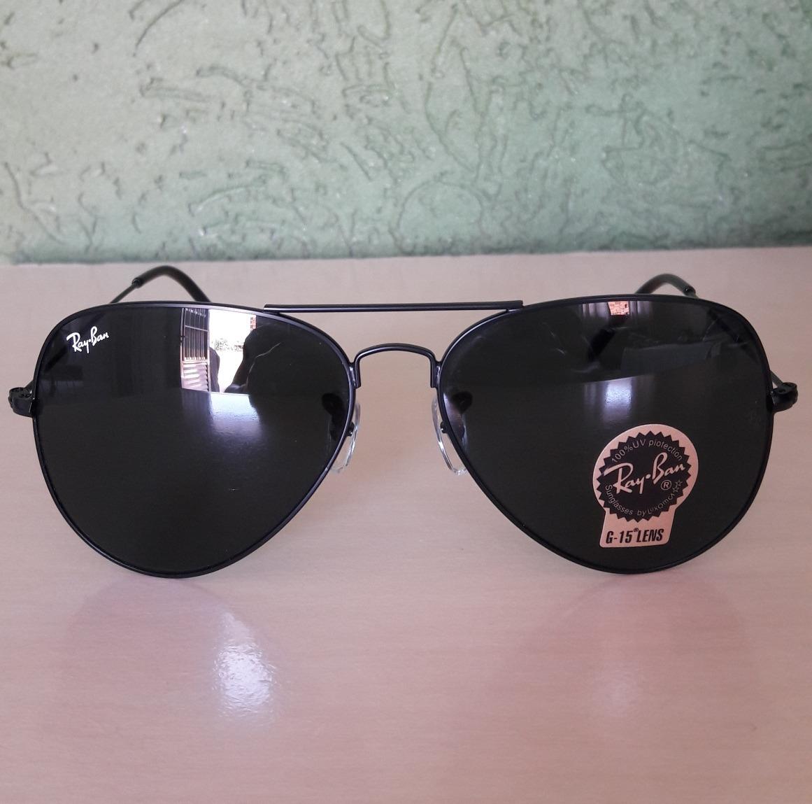 4b195d74d óculos ray ban aviador lente de cristal g-15 todas as cores. Carregando  zoom.
