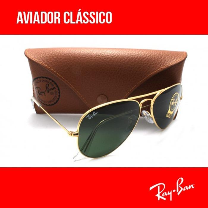 Óculos Ray-ban Aviador Original Rb3025 Várias Cores Garantia - R ... 02efd807b5
