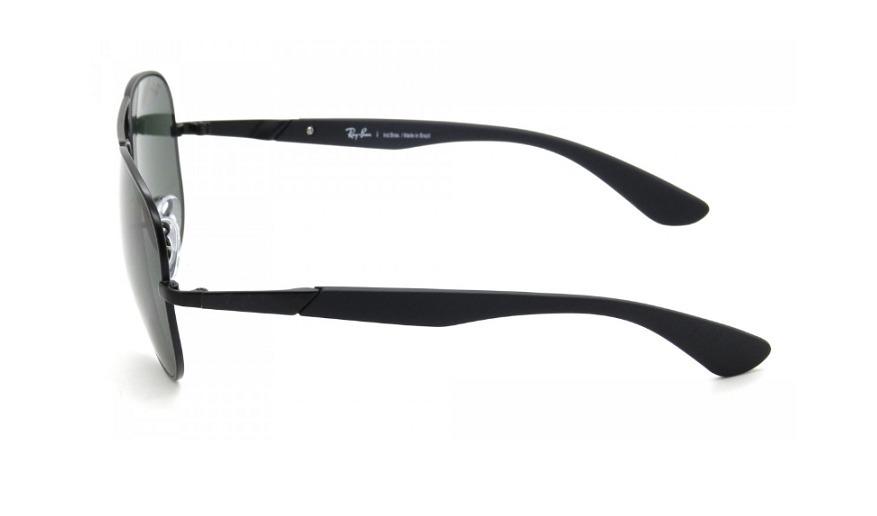 afe3fb4d8 Óculos Ray-ban Aviador Rb 3554l 006/71 58 Preto - Original - R$ 399 ...