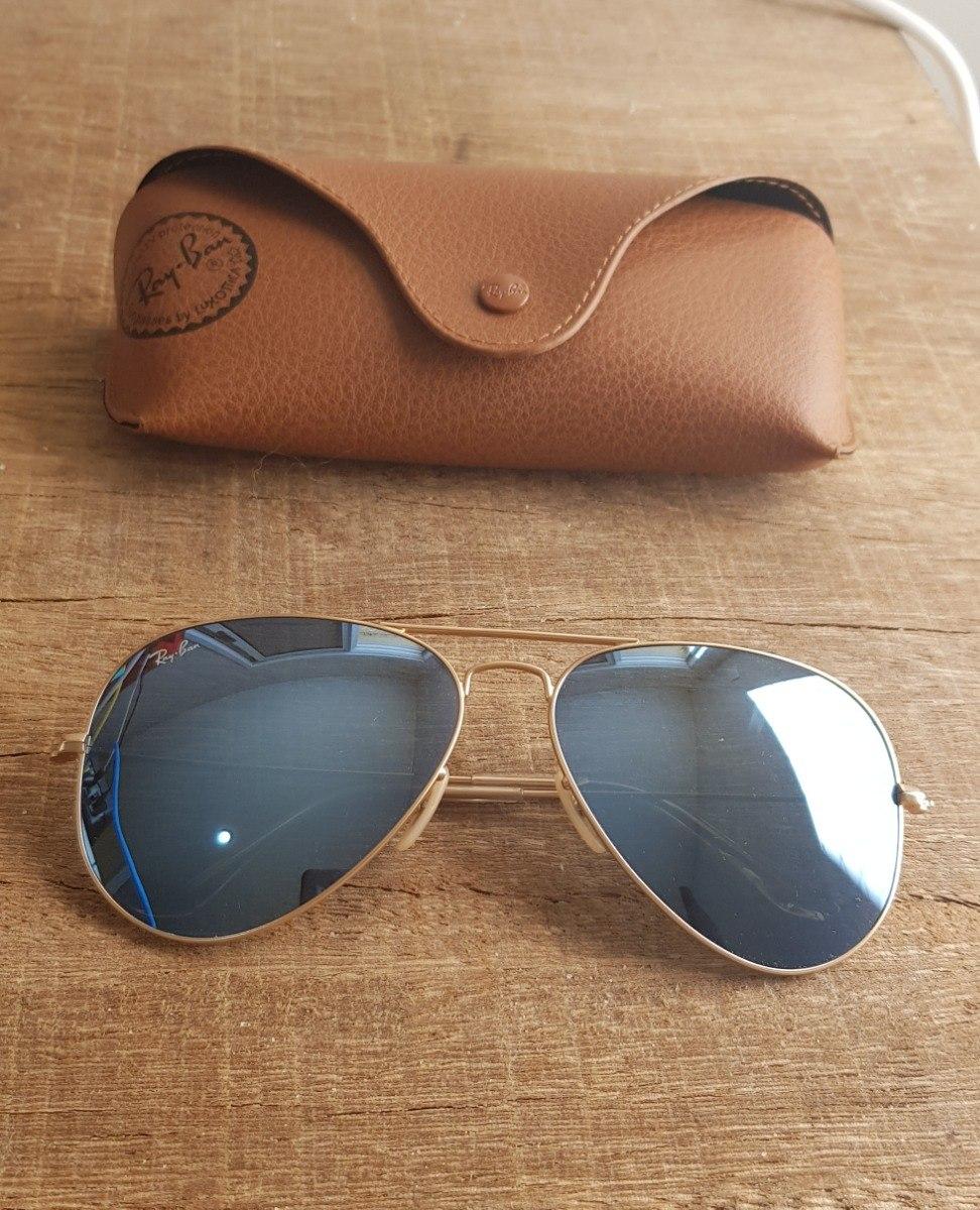 b3bd1dc1a5b9d Óculos Ray Ban Aviador Rb3025 Azul Espelhado Black Friday - R  300 ...