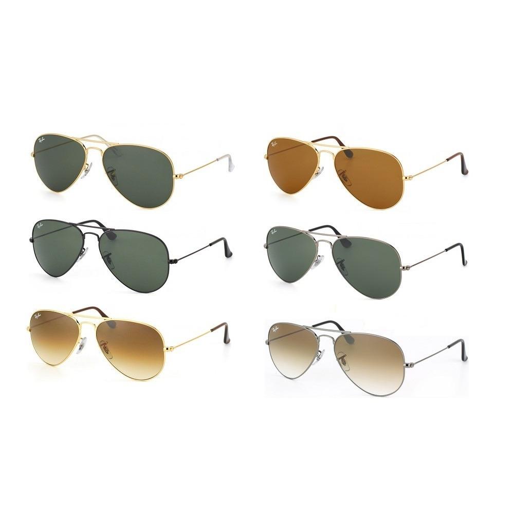 635fafe3c óculos ray-ban aviador rb3025 masculino feminino original. Carregando zoom.