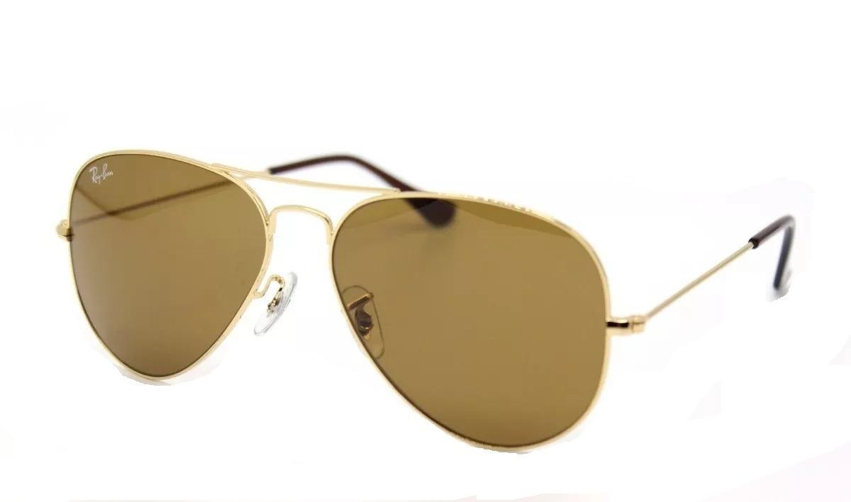18e5dcd8f Oculos Ray Ban Aviador Rb3025 Rb3026 Marrom Original - R$ 219,90 em ...