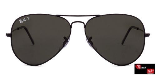 a020e6eba0623 Óculos Ray- Ban Aviador Rb3025 62 - Preto Polarizado - R  343,60 em Mercado  Livre