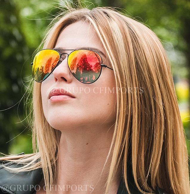 a99094fb4 Óculos Ray Ban Aviador Rb3026 Laranja Espelhado Oferta Novo - R$ 89 ...