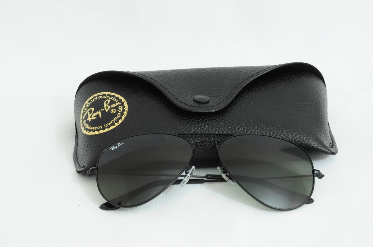 8233d6689f7fd óculos ray ban aviador rb3026 - preto lentes verde degradê. Carregando zoom.