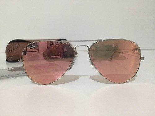 3349b9fa0 Óculos Ray-ban Aviador Rosê Espelhado- Original. - R$ 303,67 em ...
