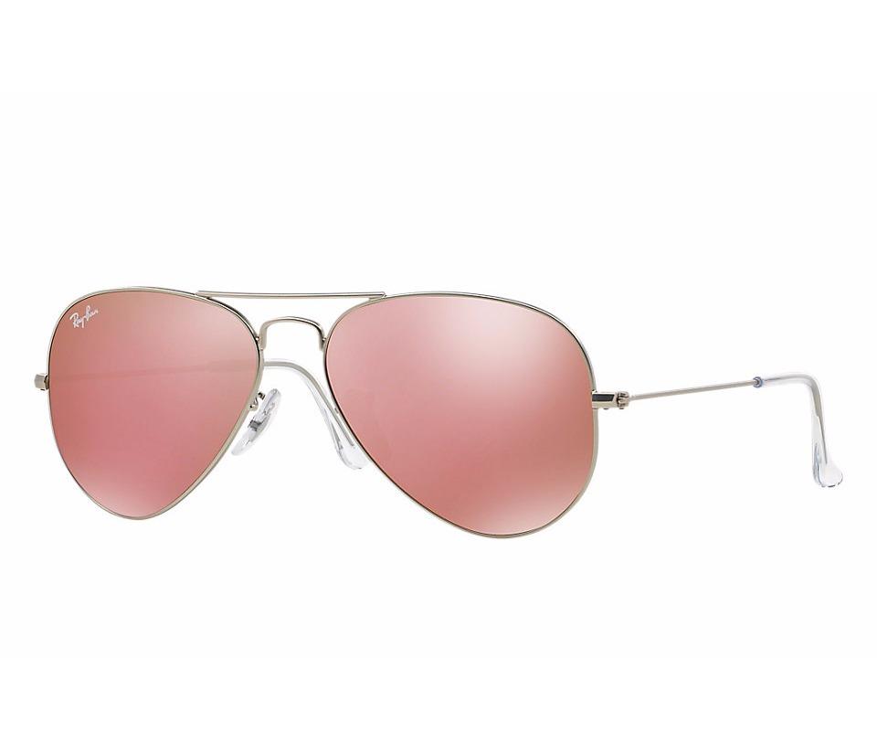 999eeea639ee7 óculos ray-ban aviador rosa espelhado + relógio de brinde. Carregando zoom.