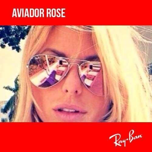Óculos Ray-ban Aviador Rose Original Rosa - R  270,34 em Mercado Livre f03a4242d7