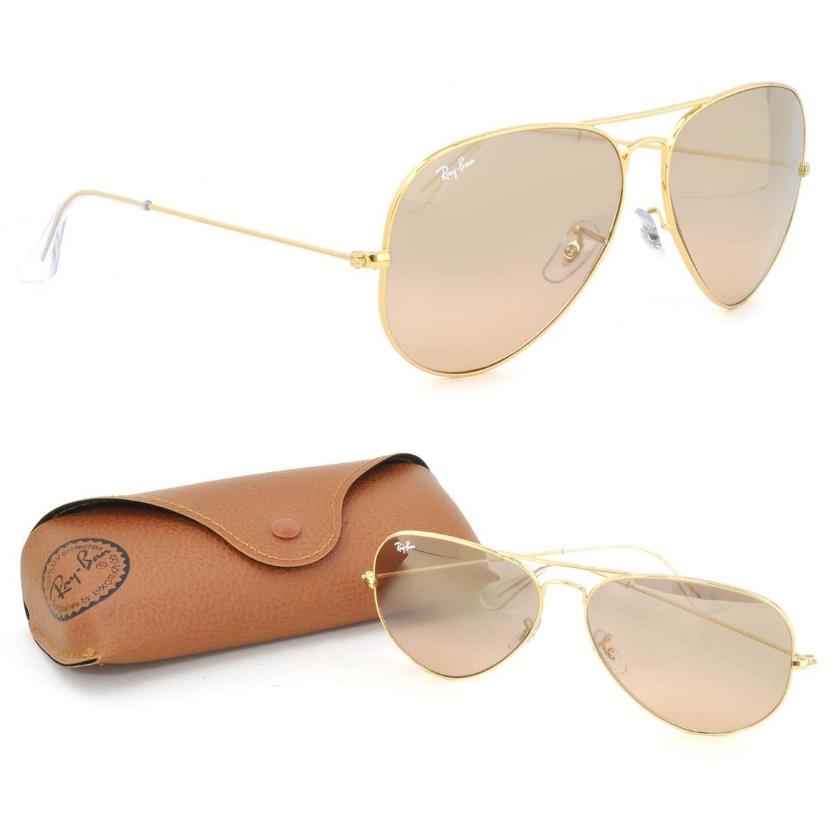 óculos ray-ban aviador unissex rb3025l 001 3e tamanho médio. Carregando  zoom. 117ca30490ea3