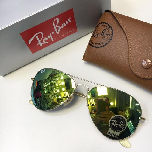 óculos ray ban aviador varias cores espelhado 12x sem juros