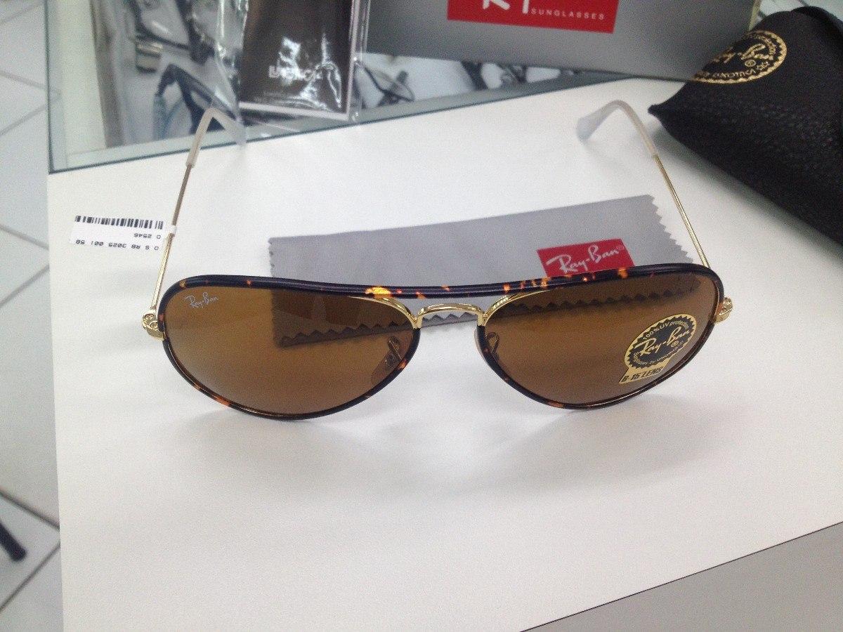 Oculos Solar Ray Ban Rb 3025 -j-m Aviator Full Color - R  429,99 em ... 4396d9ba23