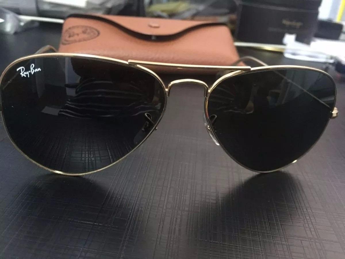 óculos ray ban aviator large metal dourado made in italy. Carregando zoom. c1f61d2726