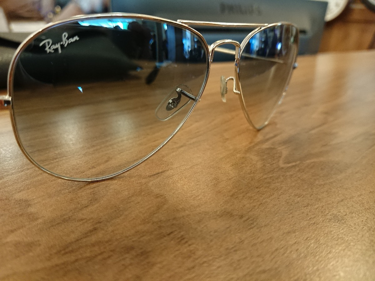oculos ray ban aviator lente degrade azul tam. 58 original. Carregando zoom. d80f69dc49