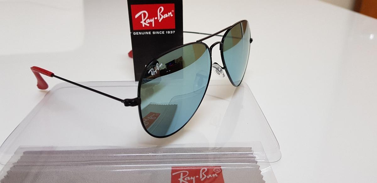a1606f352 ... get óculos ray ban aviator scuderia ferrari azul espelhado jeans. carregando  zoom. cf52e 83c21