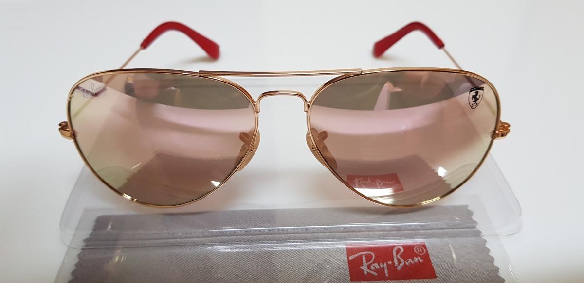 4f0e7f4a2aed2 óculos ray-ban aviator scuderia ferrari lente rosê espelhad. Carregando  zoom.