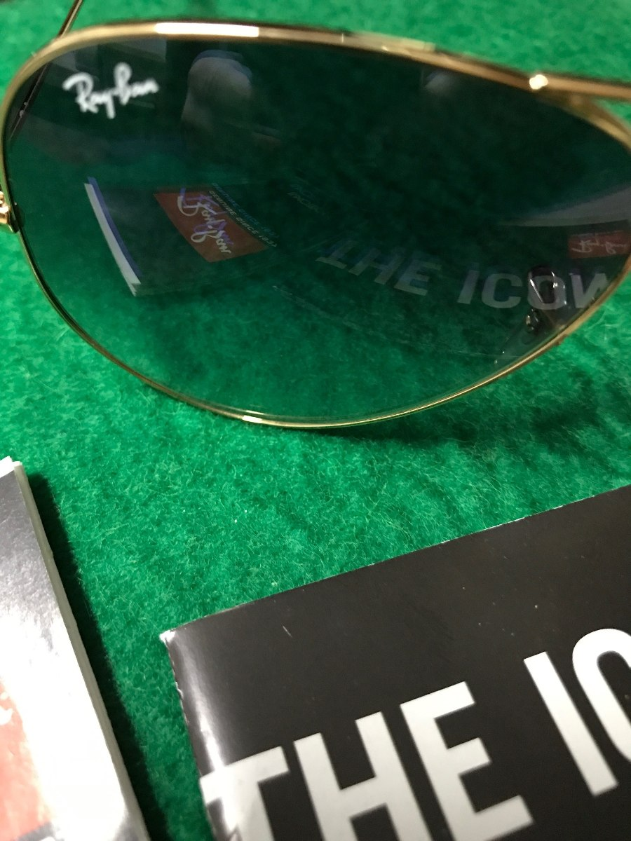 fcc3b7c25bc4d oculos ray ban - azul claro degrade - legítimo - tamanho g. Carregando zoom.