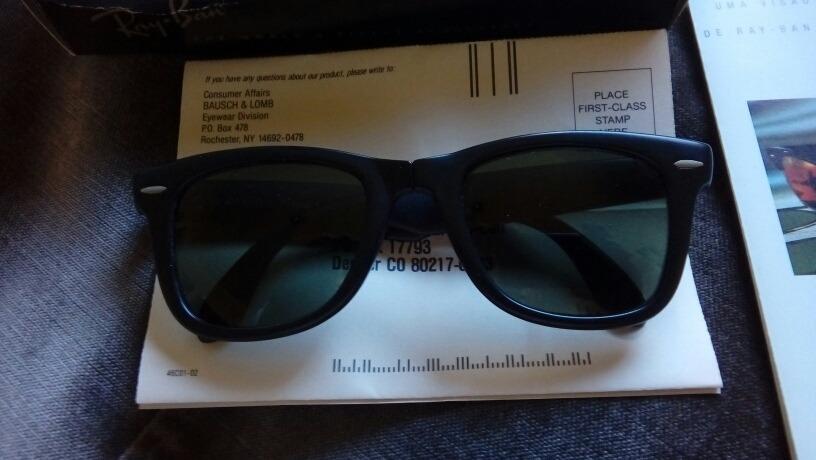 óculos ray ban bausch lomb w0670 wayfarer set folding matte. Carregando  zoom. 74b8ae3559