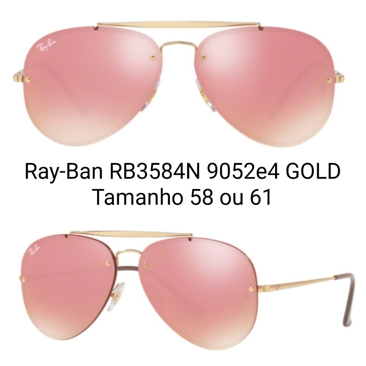 Óculos Ray-ban - Blaze Aviator - Rb3584n - R  449,00 em Mercado Livre 19b0909332