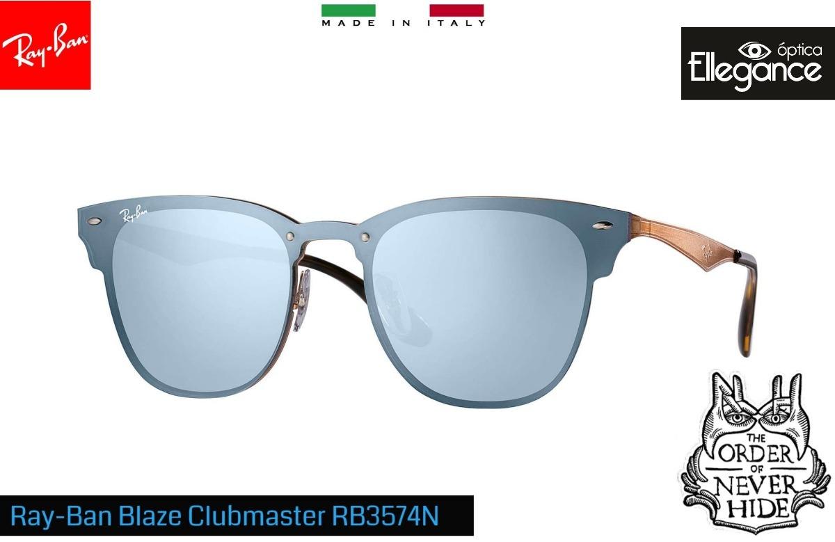 678ff302d5247 Óculos Ray- Ban Blaze Clubmaster Rb3576n 9039 1u - Espelhado - R ...